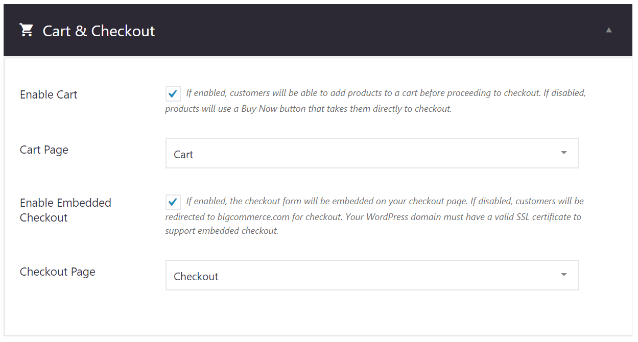 Getting Started with BigCommerce for WordPress