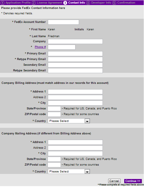 how to choose a fedex account number