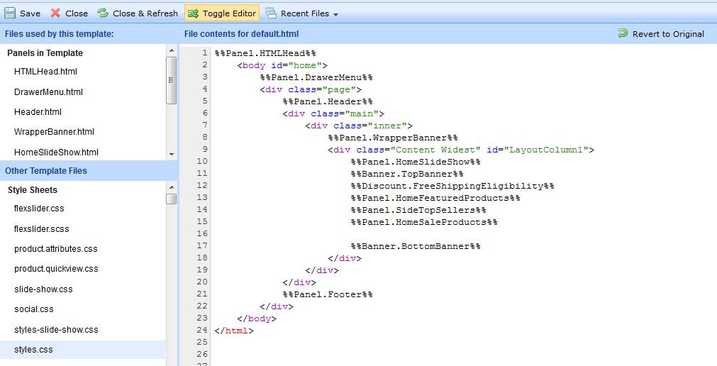 Accessing and customizing template files blueprint bigcommerce defaultml maxwellsz