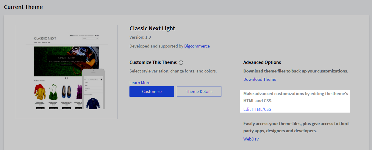Accessing and customizing template files blueprint the template file editor will display with your themes homepage template file defaultml in the editor screen maxwellsz