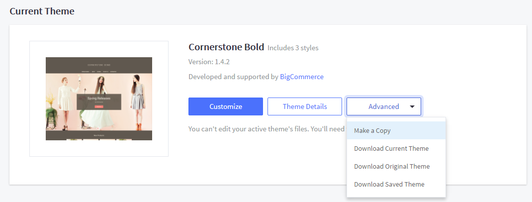 Downloading and uploading custom themes bigcommerce support advanced drop down menu malvernweather Choice Image