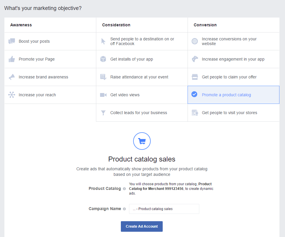 Installing the facebook ads app bigcommerce support marketing objective xflitez Choice Image