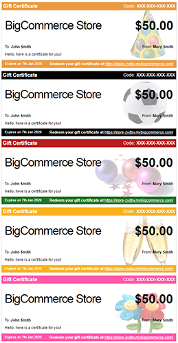 Customizing Gift Certificate Templates Bigcommerce Support