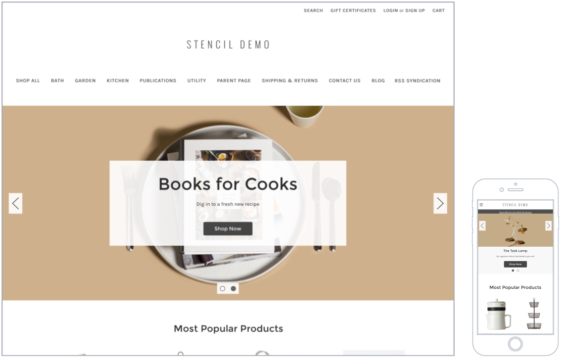 bigcommerce template variables.html