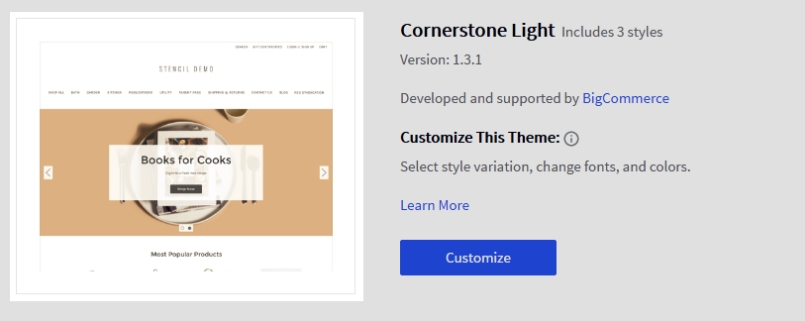 Backing up your store bigcommerce support 3 click on theme options to display the download options malvernweather Gallery
