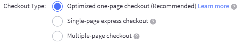 Checkout settings bigcommerce support blueprint checkout types malvernweather Choice Image
