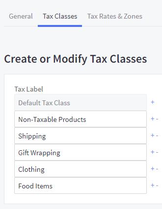 manual tax setup bigcommerce support