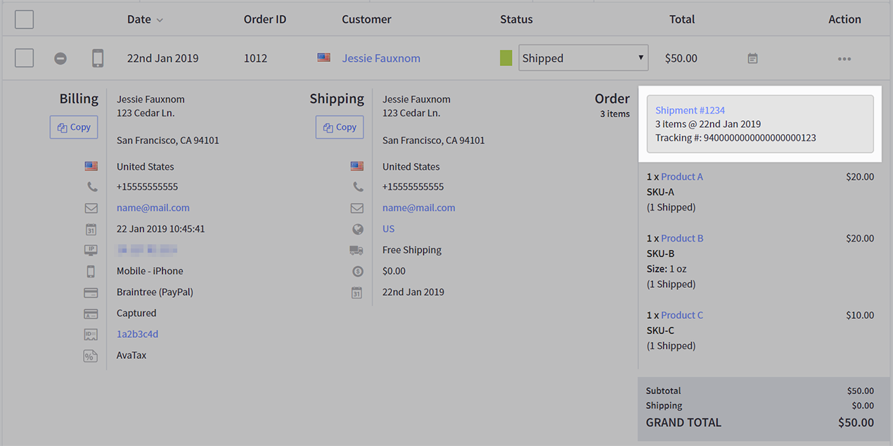 Bc Shipping Orders