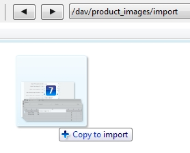 Import folder containing sample images
