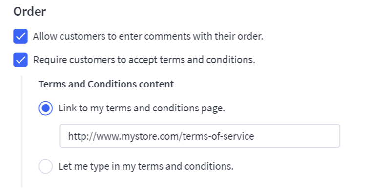 Terms and Conditions URL