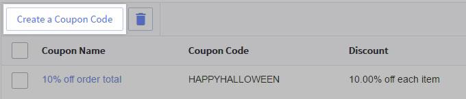 Create coupon code