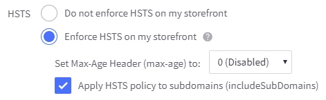 HTTP Strict Transport Security (HSTS) and Content Security Policy (CSP) settings
