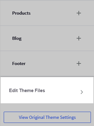 Theme Editor Section