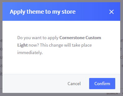 Apply Theme to Store Prompt