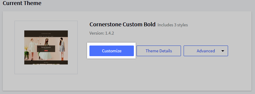 Customize Button