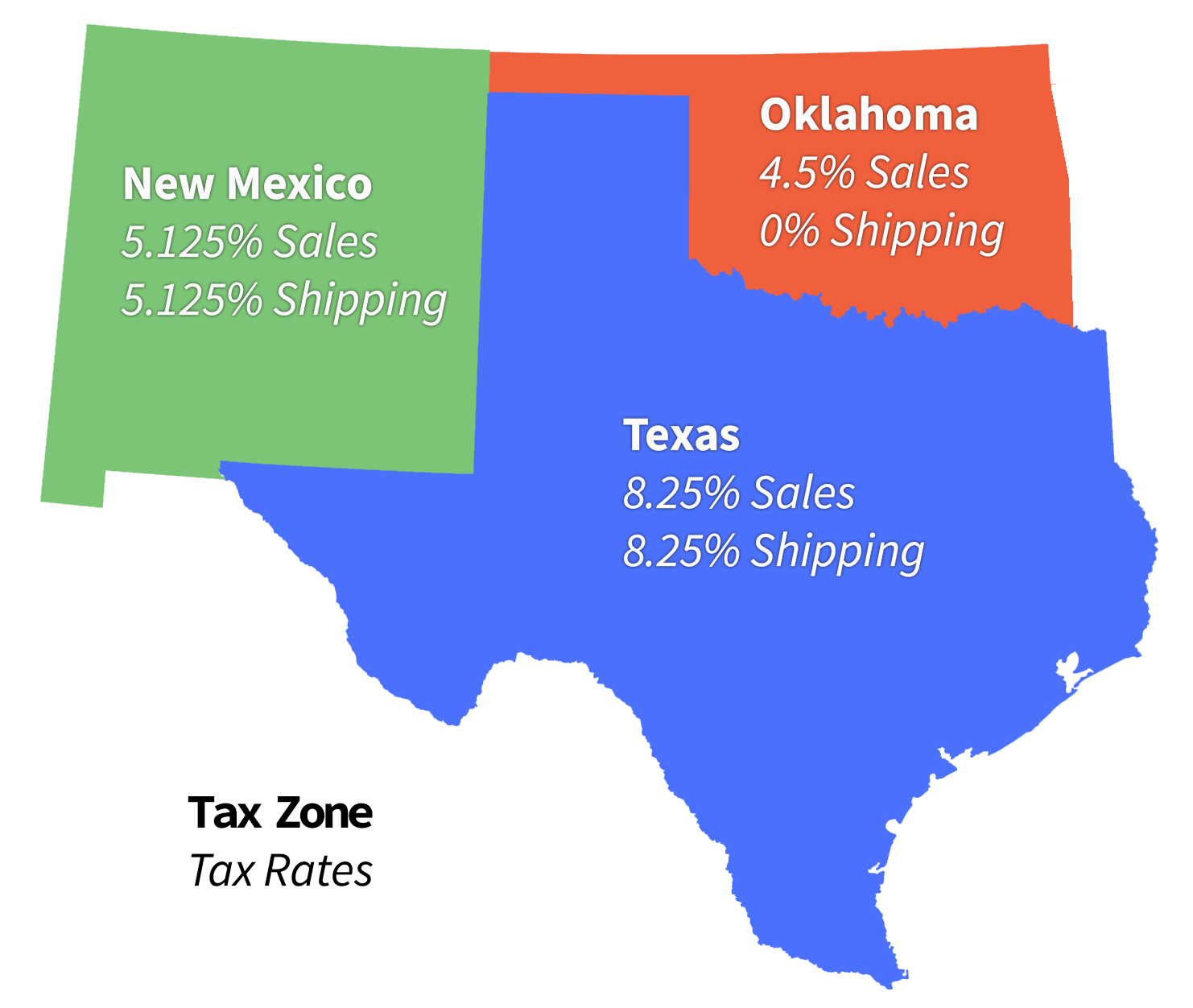 How Much Is Sales Tax In Texas >> Manual Tax Setup