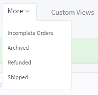 Options found in the More tab