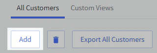 Add customer button in the Customer view of the BigCommerce control panel