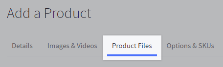Product Files tab highlighted